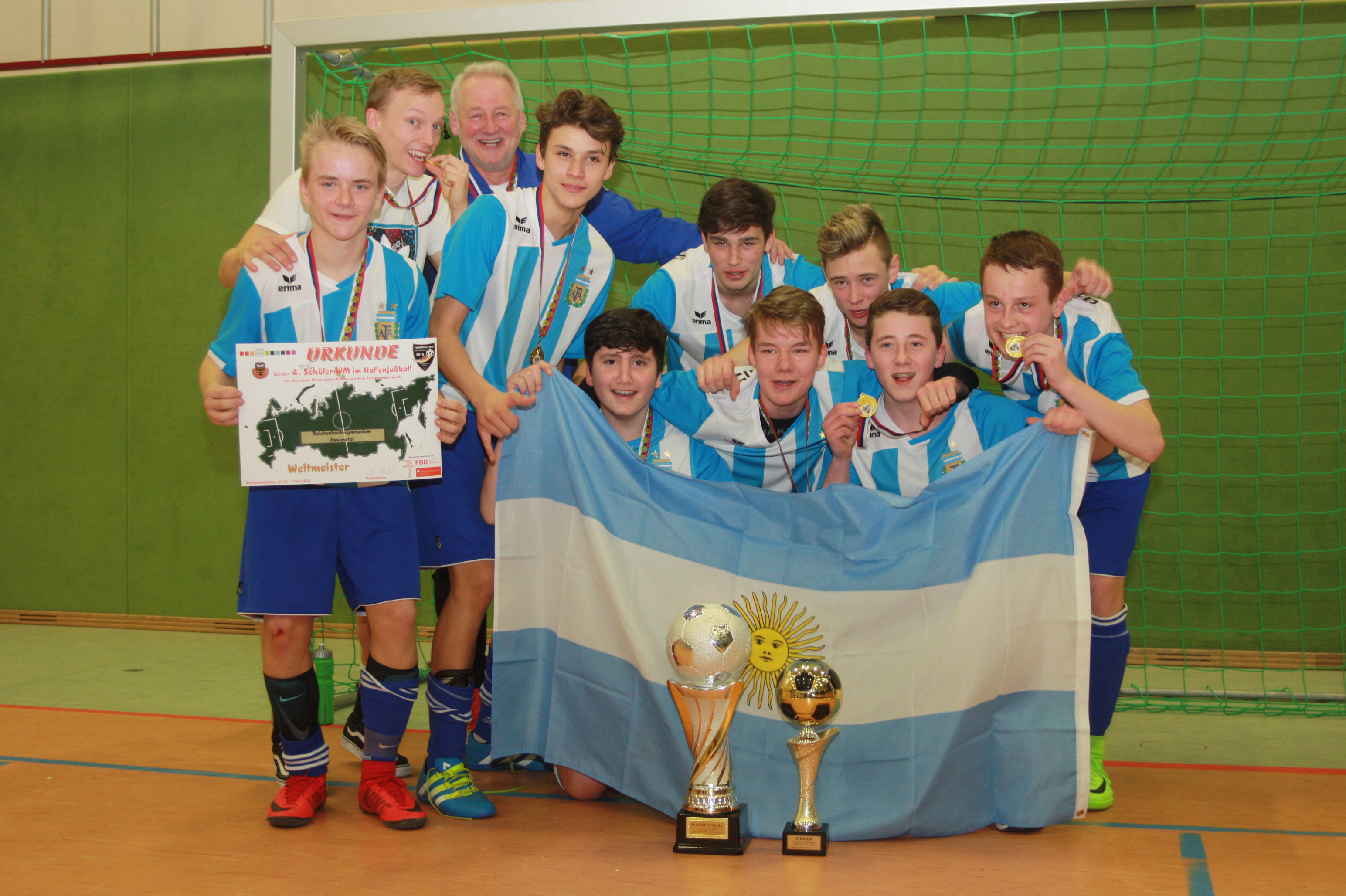 Fussball Weltmeister Der Schulen 2018 Ist
